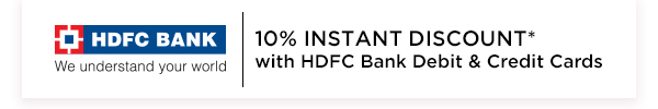 10% Instant Discount on HDFC Cards