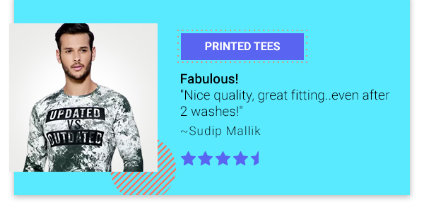5 Star rated Tees