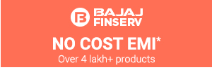 No Cost EMI from Bajaj Finserv Ltd.