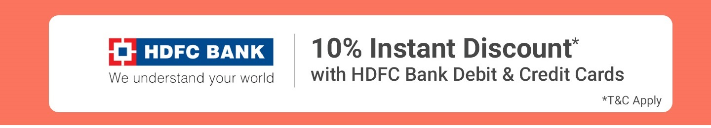10% Instant Discount with HDFC Cards