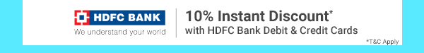 10% Discount on HDFC Cards