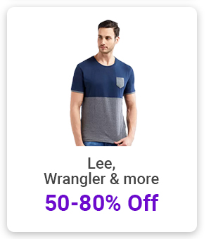 Lee, Wrangler and more at min.50% Off