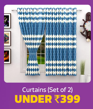 Curtains (Set of 2) under Rs.399