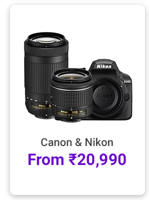 Cameras from Rs.20,990