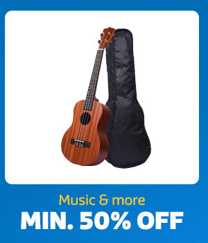 Music at Min.50% Off
