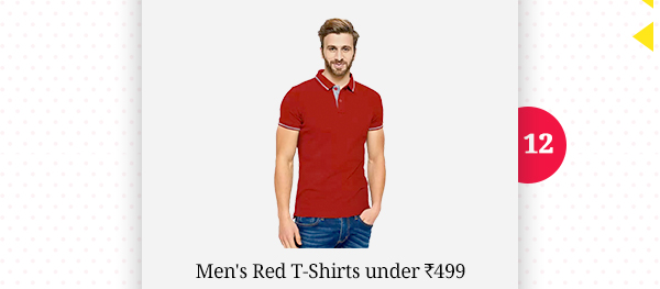 Men's Red Tshirts under Rs.499