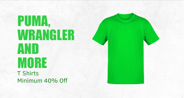 Puma, Wrangler and more TShirts at Min.40% Off