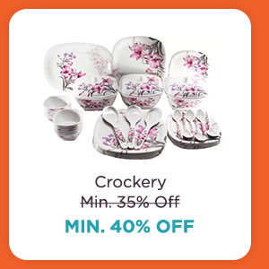 Crockery at Min.40% Off