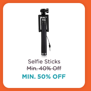 Selfie Sticks at Min.50% Off