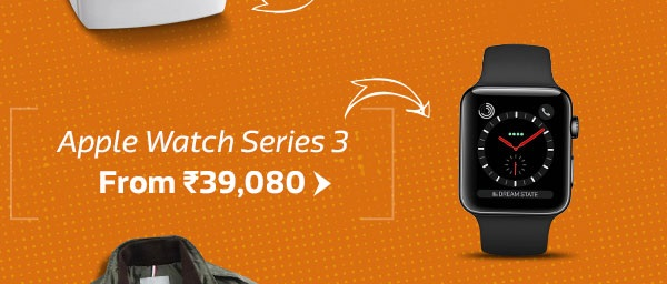 Recently Launched: Apple Watch Serie 3 + GPS + Cellular from Rs.39,080