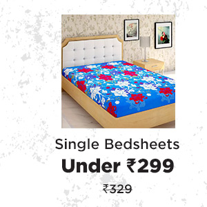 Single Bedsheets under Rs.299