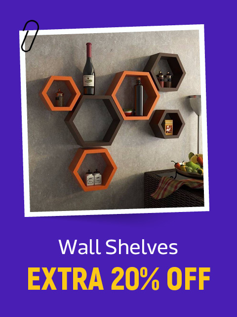 Wall Shelves at extra 20% Off