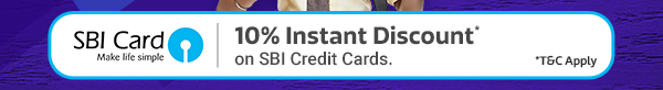10% Instant Discount with SBI Credit Cards