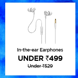 In the ear earphones under Rs.499