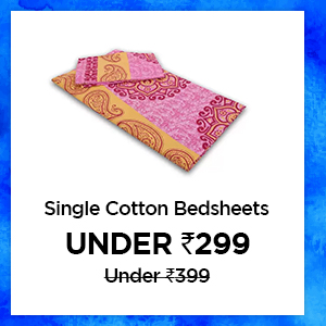 Single Cotton Bedsheets under Rs.299