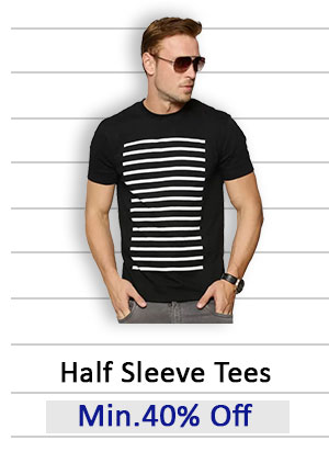 Half Sleeve Tees Min.40% Off