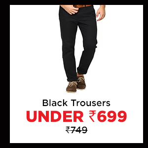 Black Trousers under Rs.699