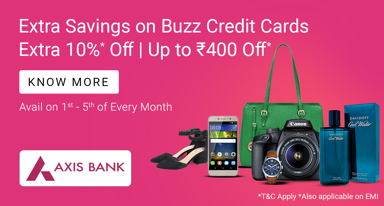 Extra 10% Off with Axis Bank