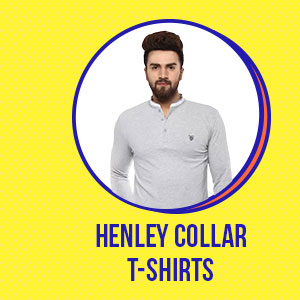 Henley Collar T-Shirts