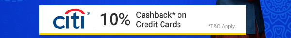 10% Cashback with Citi Bank Credit Cards