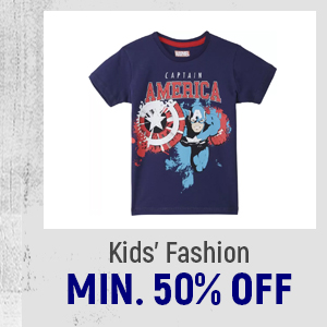 Kid's Fashion at Min.50% Off