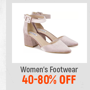 Women's Footwear at 40-80% Off