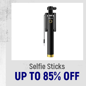 Selfie Sticks up to 85% Off