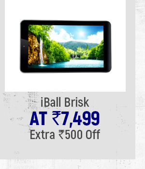iBall Brisk at Extra Rs.500 Off