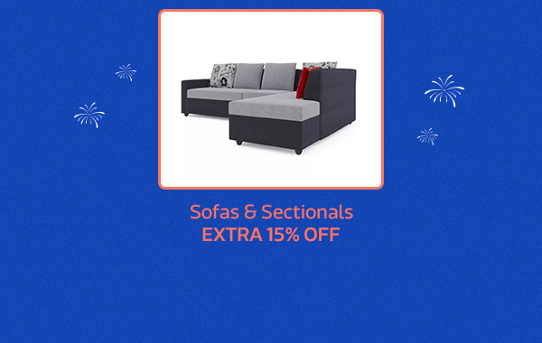 Sofas and Sectionals at extra 15% Off