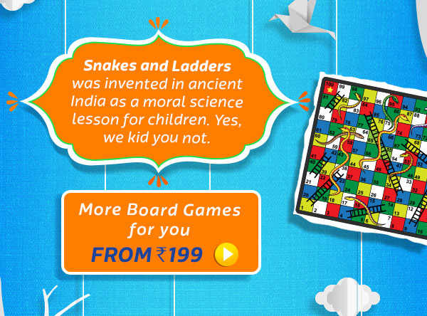 Snakes & Ladders was actually invented in India to give kids Moral Science Lessons