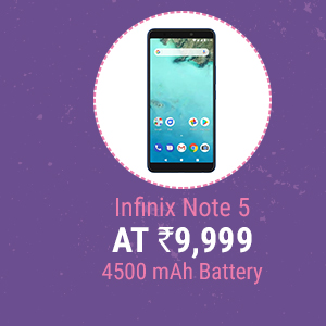 Infinix Note 5 at Rs. 9,999 | Android One, 4500 mAh Battery