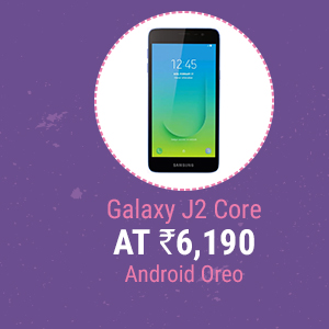 Galaxy J2 Core at Rs. 6,190 | Android Oreo , 8GB ROM