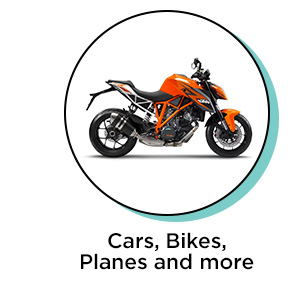 Cars, Bikes, Planes & more