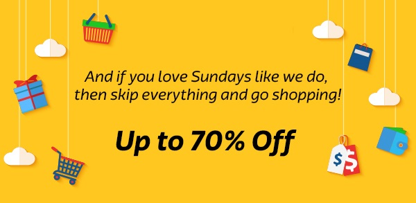 Skip everything start shopping, coz it's up to 70% Off