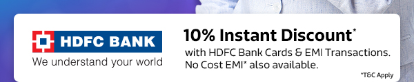 10% Instant Discount* from HDFC