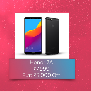 Flat ₹3,000 Off on Honor 7A | At Rs. 7,999