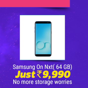 Samsung On Nxt( 64 GB) No more storage worries At Rs. 9,990