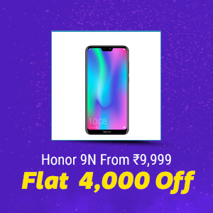 Honor 9N from Rs. 9,999 | Flat Rs. 4,000 Off