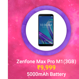 Zenfone Max Pro M1(3GB) at just Rs. 9,999 | Snapdragon 636, 5000 mAh Battery