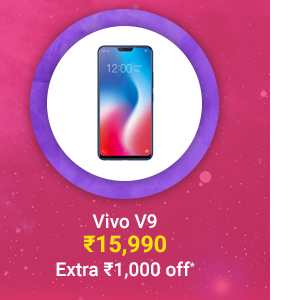 Vivo V9 at just Rs. 15,990 | Extra Rs. 1,000 off on Prepaid Transactions