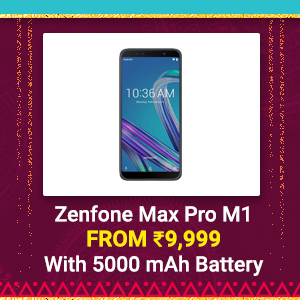 Zenfone Max Pro M1 from Rs. 9,999 | Snapdragon 636, 5000 mAh Battery