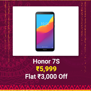 Honor 7S at Rs. 5,999 | Flat Rs. 3,000 off