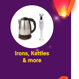 Irons, Kettles & more