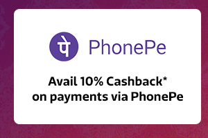 Get 10% Cashback* from PhonePe