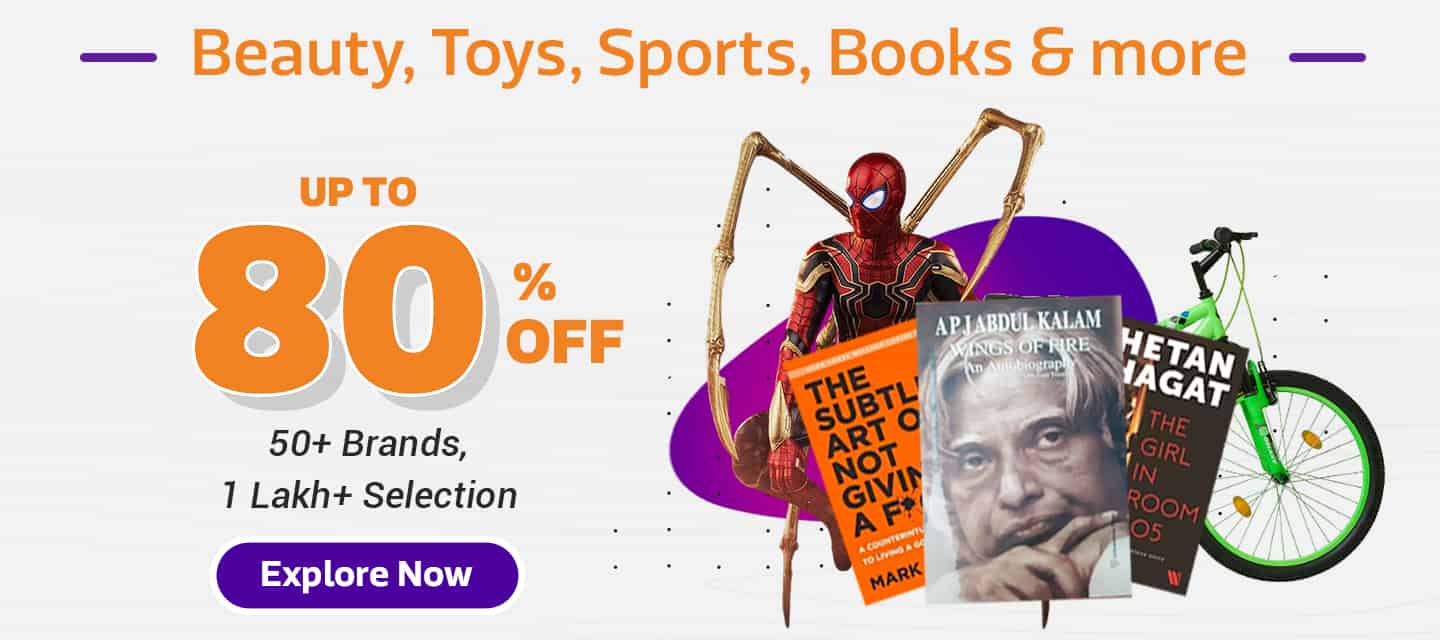 Massive Discounts on Books, Beauty, Sports & every daily use item >