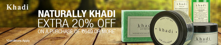 Extra 20% discount on Various Khadi BEAUTY AND PERSONAL CARE products for limited period at Flipkart. com