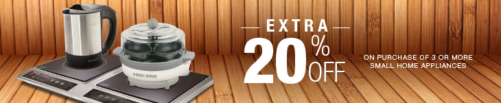 Extra 20% off on Home Appliances of all popular brands like Philips, Bajaj, Prestige, Jaipan from flipkart. com